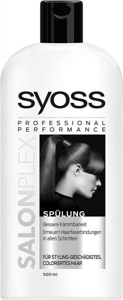 3x Syoss Spülung Salon Plex je 500ml Geschädigtes & Gefärbtes Haar