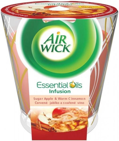 3x Air Wick Duftkerze Essential Oils Apfel & Zimt je 105g