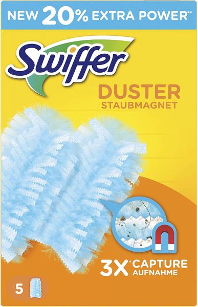 5 x Swiffer Duster Staubmagnet Tücher Nachfüllpackung 5er Pack