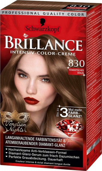 Schwarzkopf Brillance 830 Romantisches Braun Venetian Nights
