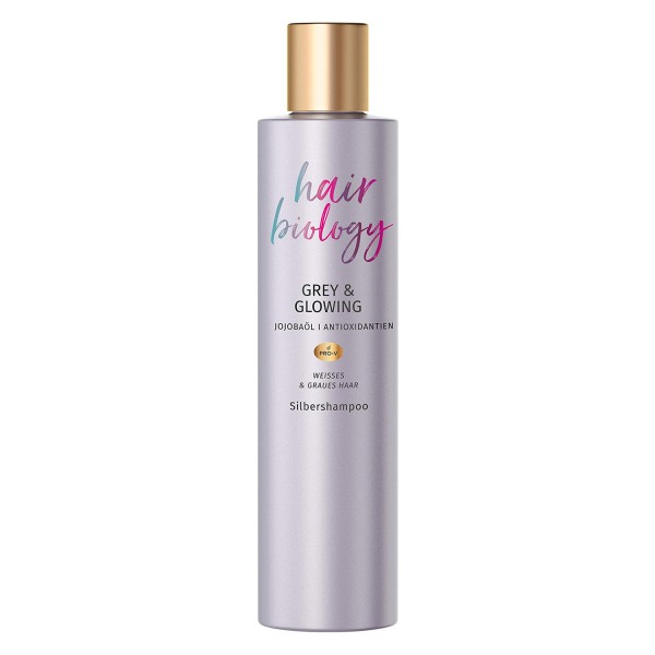 Hair Biology Grey & Glowing Silbershampoo 250ml für Graues & Weißes Haar
