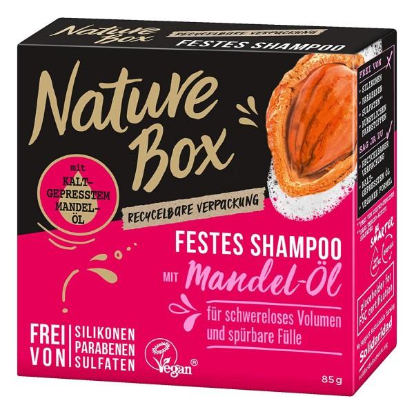 3 x Nature Box Festes-Shampoo Mandel-Öl je 85g Schwereloses Volumen