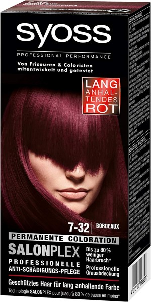 Syoss Salonplex Permanente Coloration 7-32 Bordeaux