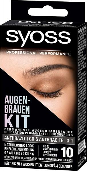 Syoss Augenbrauen Kit 3-1 Anthrazit 17 ml Augenbrauenfarbe