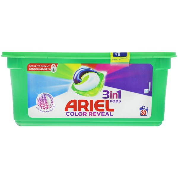 Ariel 3in1 Pods Color Reveal Colorwaschmittel 30 Wäschen