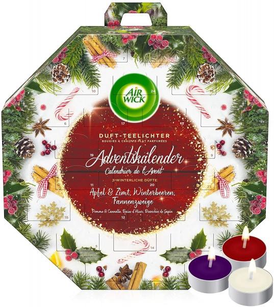 Air Wick Duftkerzen Adventskalender 24 Teelichter Vorfreude auf Weihnachten