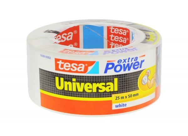 3 x tesa extra Power Universal Folienband weiß je 25mx50mm