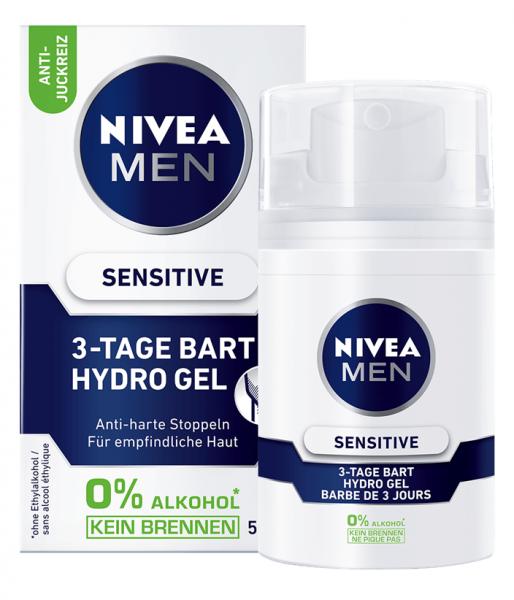 5x Nivea Men Bartpflege Sensitive 3-Tage Bart Hydro Gel je 50ml