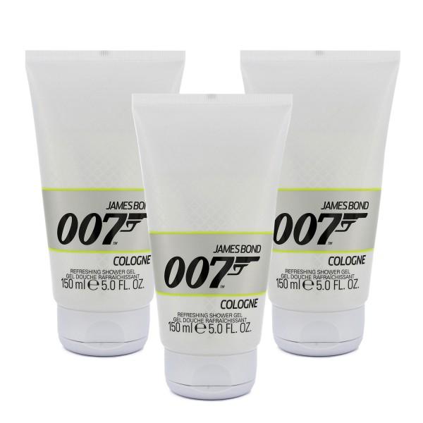 3 x James Bond 007 Cologne Duschgel for men je 150ml Showergel