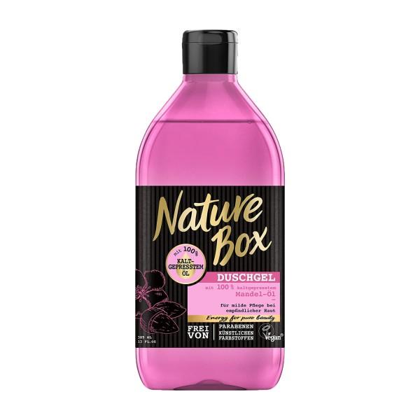 3 x Nature Box Duschgel mit kaltgepresstem Mandel-Öl je 385ml Vegan