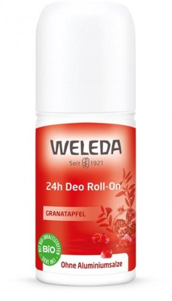3 x WELEDA Deo Roll-On Granatapfel 24h Deodorant je 50ml ohne Aluminiumsalze