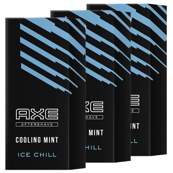 3 x Axe Aftershave Ice Chill Cooling Mint je 100ml Rasierwasser für den Mann