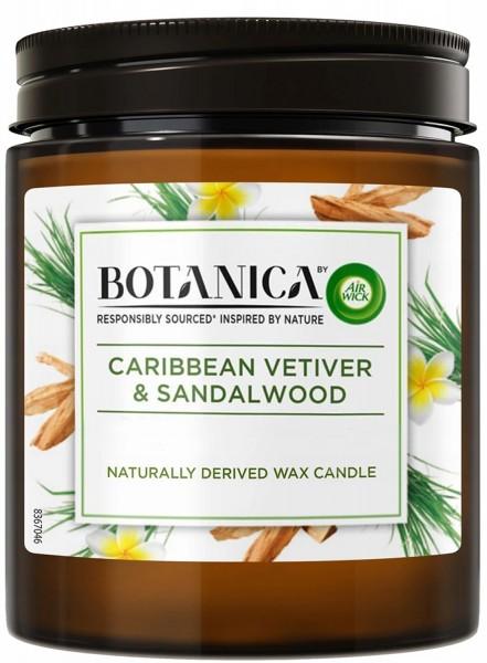 6 x Air Wick Botanica Duftkerze Karibischer Vetiver und Sandelholz je 205g