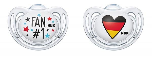 2x NUK je 2er Pack Freestyle Fußball-Edition Schnuller 6-18 Monate