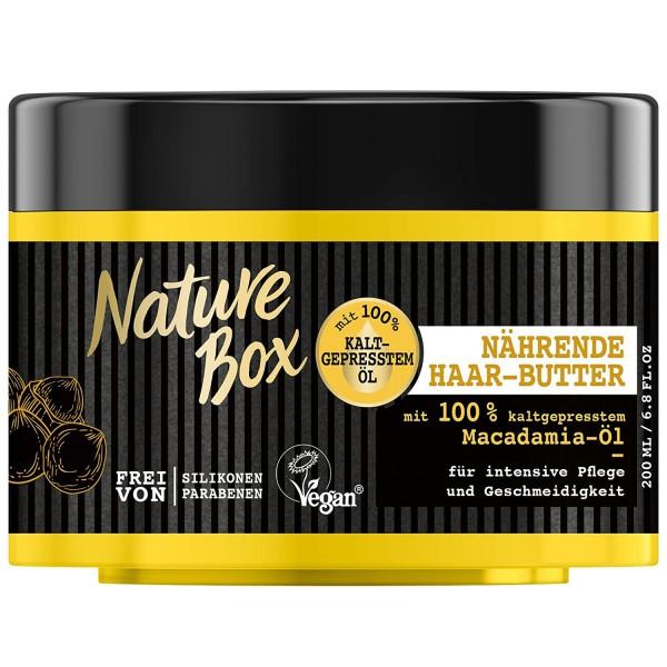 3 x Nature Box Macadamia-Öl Nährende Haar-Butter je 200ml intensive Pflege