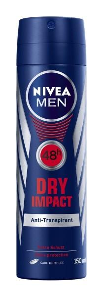 3 x Nivea Men Dry Impact Anti-Transpirant Spray je 150ml 48h Schutz