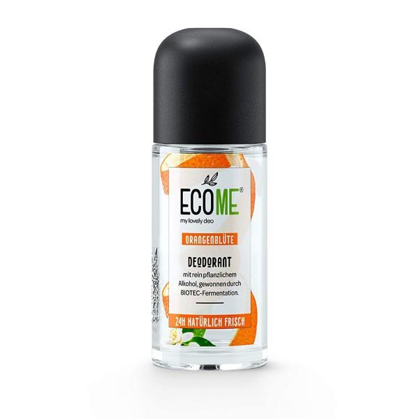 ECOME Deo Roll-On Orangenblüte 50ml 0% Aluminiumsalze Vegan empfindliche Haut