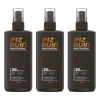 3 x Piz Buin Moisturising Ultra Light Sun Spray LSF30 Sonnenspray je 200ml