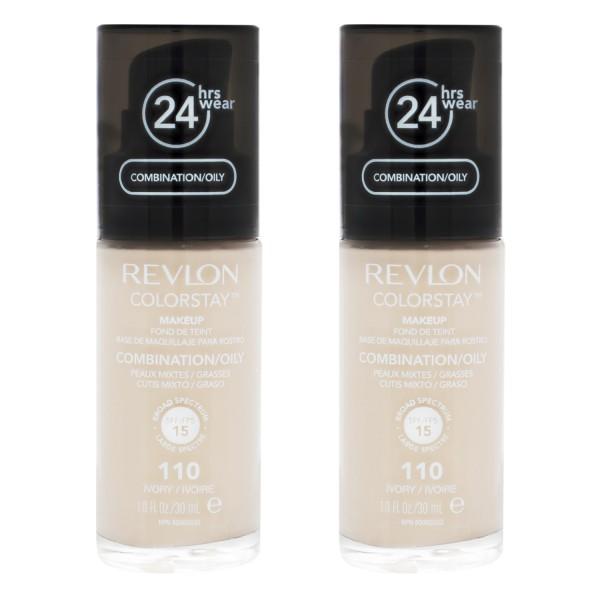 2 x Revlon ColorStay MakeUp Combination Oily Skin je 30 ml Ivory 110
