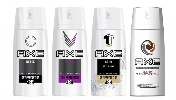 2 x Axe Dry Protection Dark Deospray for men jeweils 150ml Duft nach Wahl