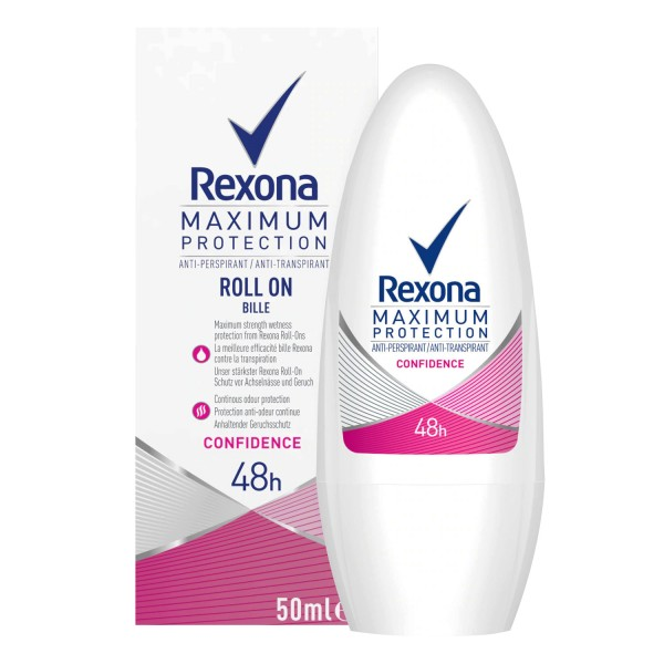 6x Rexona Maximum Protection Deo Roll On Confidence Anti Transpirant je 50ml