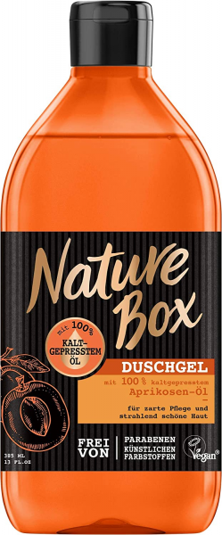 Nature Box Duschgel Aprikosen-Öl 385ml zarte Pflege für die Haut