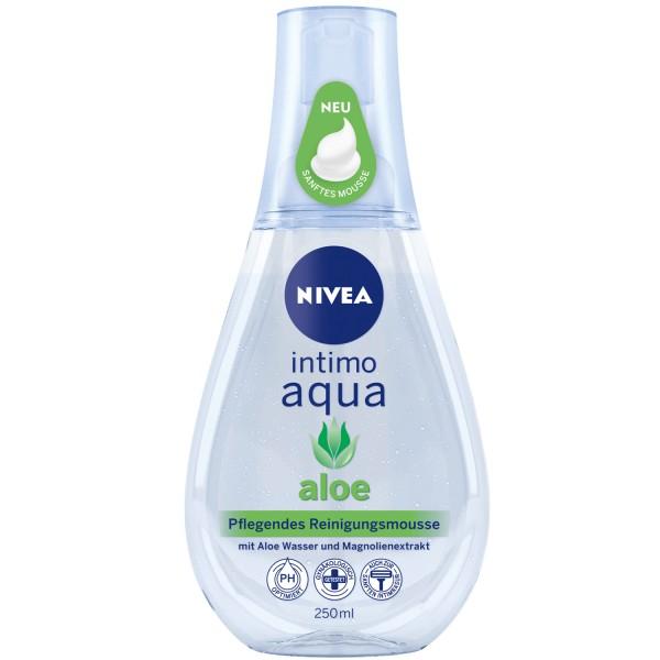 3 x NIVEA Intimo Aqua Aloe pflegendes Reinigungsmousse je 250ml