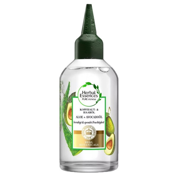 3 x Herbal Essences PURE renew Kopfhaut- & Haaröl Aloe + Avocadoöl jeweils 100ml