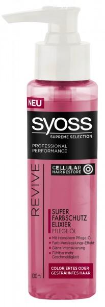 3x Syoss Oil Elixier Super Farbschutz Elixier für gefärbtes Haar je 100 ml Supreme Color