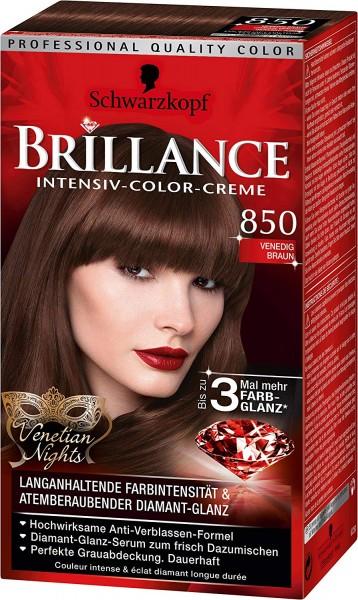 Schwarzkopf Brillance 850 Venedig Braun Haarfarbe Stufe 3 Venetian Nights