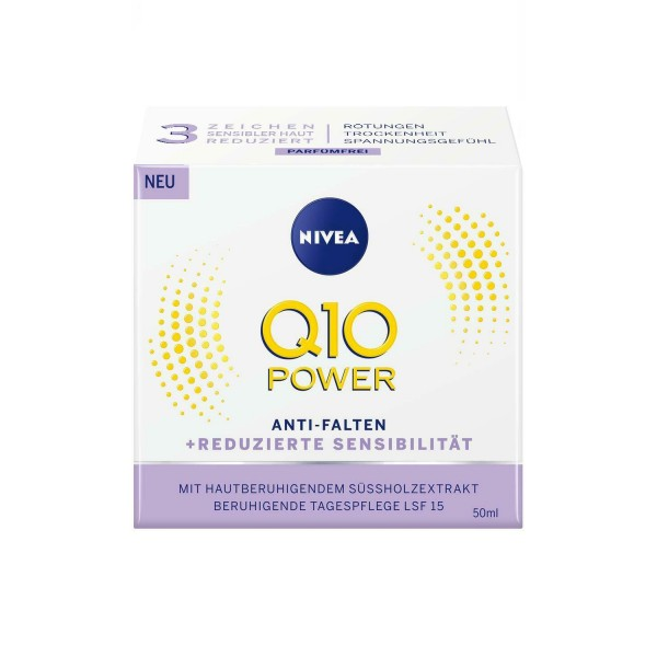 NIVEA Q10 Power Anti-Falten + Reduzierte Sensibilität Tagescreme 50ml