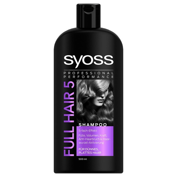 6 x SYOSS Professional Performance Full Hair 5 Shampoo je 500ml 5-Fach-Effekt