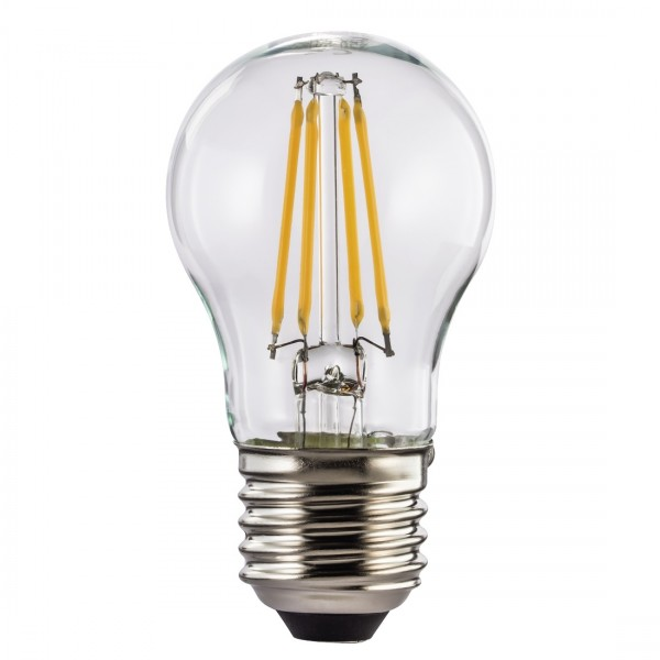Xavax LED-Filament E27 470lm ersetzt 40W Tropfenlampe Warmweiß