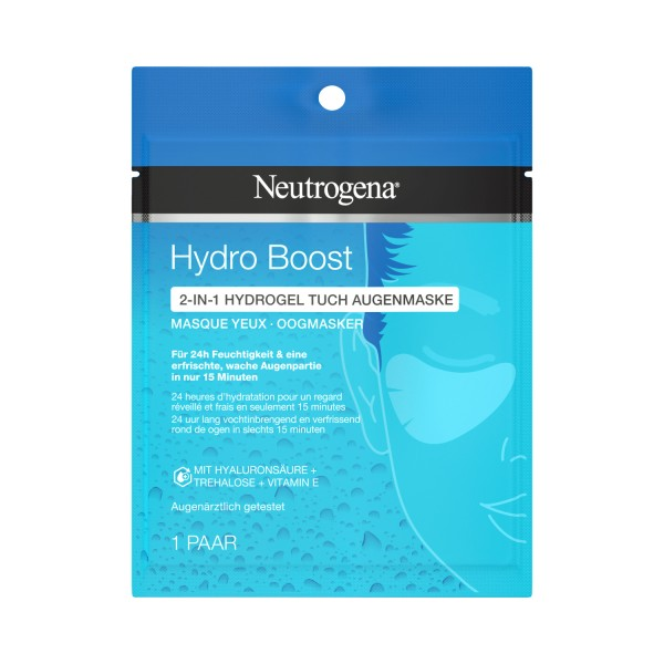 6 x 1 Paar Neutrogena Hydro Boost 2in1 Hydrogel Tuch Augenmaske gegen Schwellungen