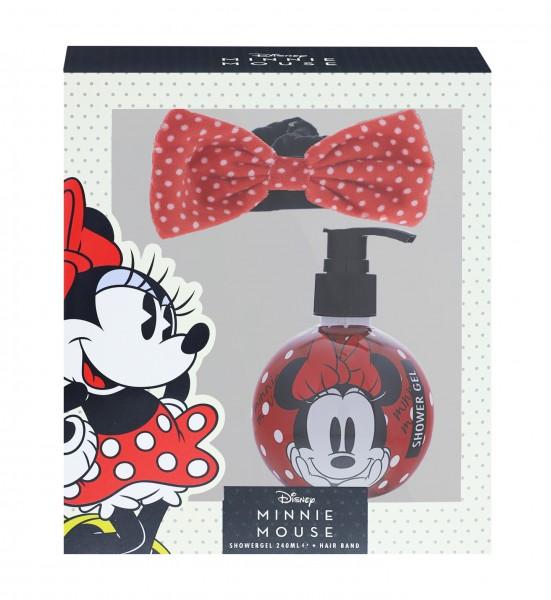 Disney Minnie Mouse Duschgel 240ml & Haar Band Geschenk Set für Mädchen