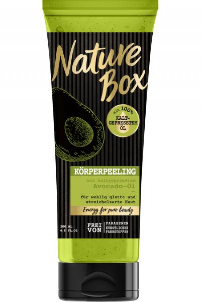 Nature Box Körperpeeling mit kaltgepresstem Avocado-Öl 200ml