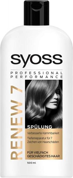 3x Syoss Renew 7 Spülung für vielfach geschädigtes Haar je 500 ml