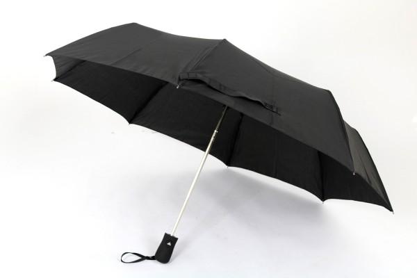 Susino Taschenschirm Regenschirm 100cm Durchmesser schwarz