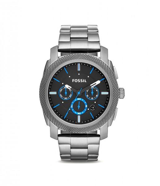 Fossil Herren Chronograph Quarz Uhr aus Edelstahl FS4931