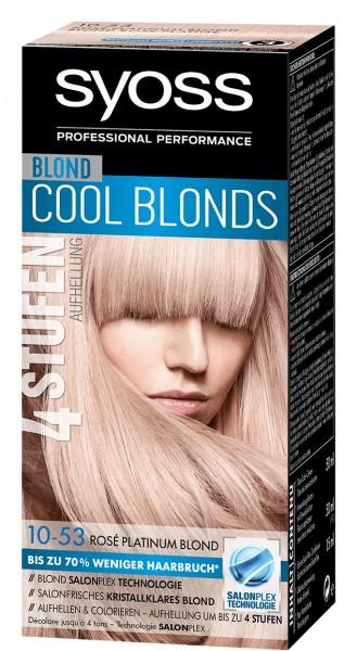 3 x Syoss Salonplex Aufhellung Dauerhafte Haarfarbe 10-53 Rose Platinum Blond