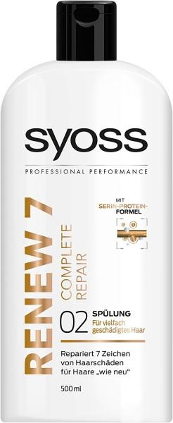 2x Syoss Renew 7 Complete Repair 02 Spülung je 500 ml