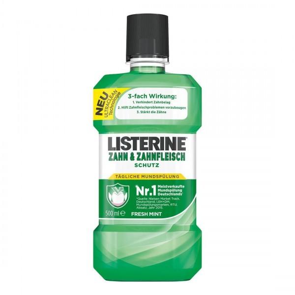 3 x Listerine Antibakterielle Mundspülung Zahn und Zahnfleisch-Schutz Fresh Mint je 500ml