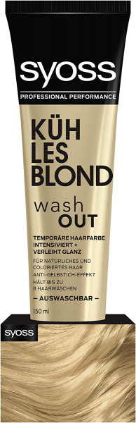 2 x Syoss Washout Color je 150ml Kühles Blond Auswaschbare Haarfarbe