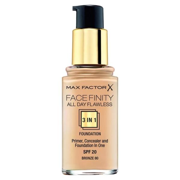 2 x Max Factor Face Finity Foundation 3in1 Bronze 80 je 30ml