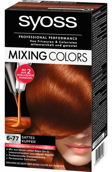 Syoss Mixing Colors 6-77 Sattes Kupfer Haarfarbe