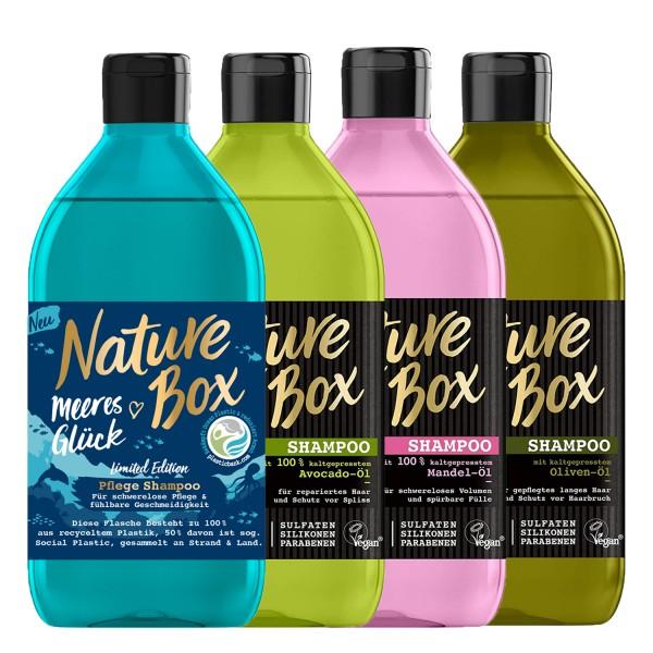 3 x Nature Box Shampoo´s mit kaltgepressten Ölen & Superfrüchten für Natürlich schönes Haar