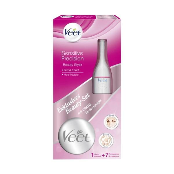 Veet Sensitive Precision Beauty Styler+Gratis Spiegel Trimmer Gesicht und Körper