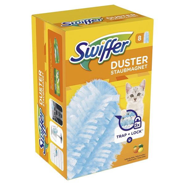 3 x Swiffer Staubmagnet Tücher Nachfüllpackung je 8 St. mit Citrusduft