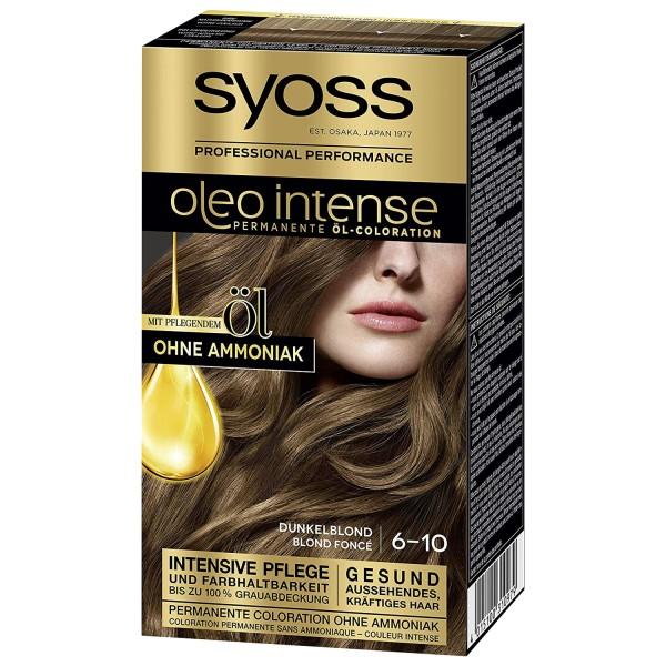 Syoss Oleo Intense Haarfarbe 6-10 Dunkelblond Öl-Coloration Ohne Ammoniak