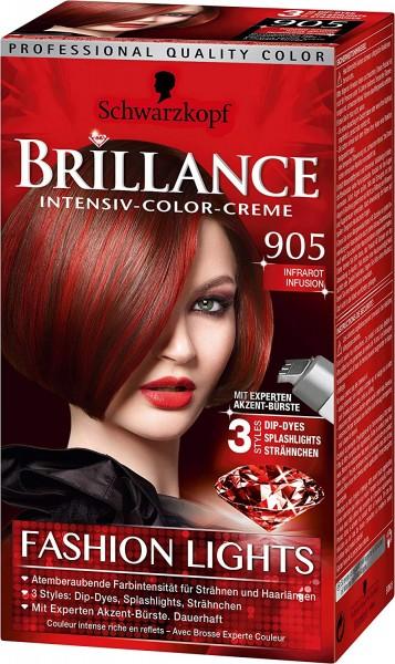 3x Schwarzkopf Brillance Haarfarbe 905 Infrarot